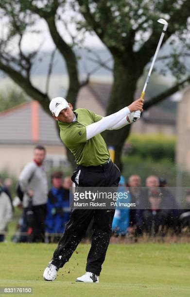 Spain's Sergio Garcia in action during the Final day of The 136th Open Championships at Carnoustie Scotland