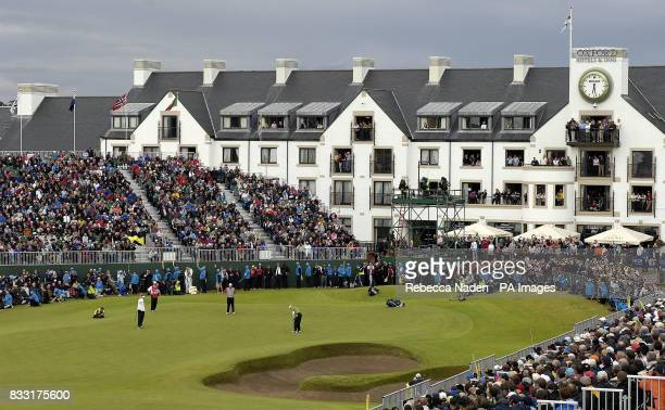 Spain's Sergio Garcia misses a put to win the Open Championship during the Final day of The 136th Open Championships at Carnoustie Scotland