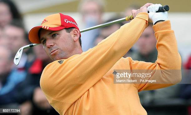 Spain's Sergio Garcia on the 1st tee during the third day of The 136th Open Championships at Carnoustie Scotland