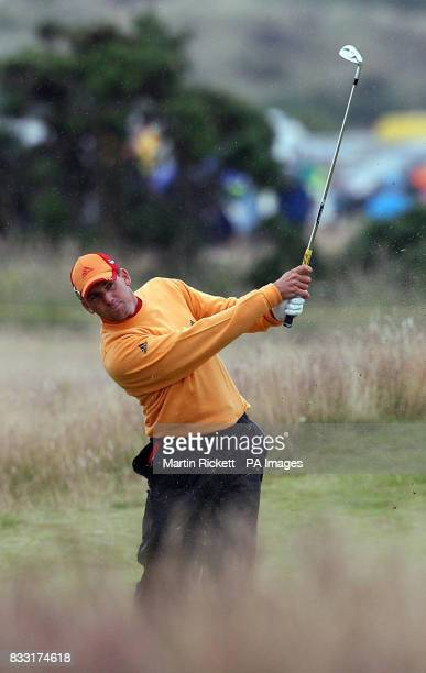 Spain's Sergio Garcia on the 3rd fairway during the third day of The 136th Open Championships at Carnoustie Scotland