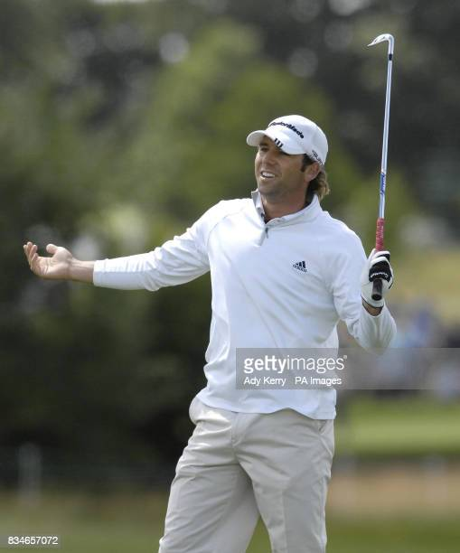 Spain's Sergio Garcia on the 6th green during the 3rd round during the European Open at The London Golf Club Ash Kent