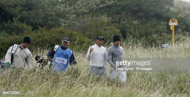 Spain's Sergio Garcia on the seventh hole during a practice round at the Royal Birkdale Golf Club Southport
