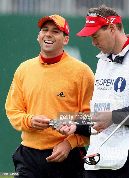 Spain's Sergio Garcia smiles after finishing his round during the third day of The 136th Open Championships at Carnoustie Scotland