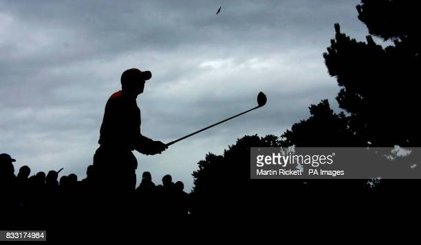 Spain's Sergio Garcia tees off on the 11th hole during the third day of The 136th Open Championships at Carnoustie Scotland
