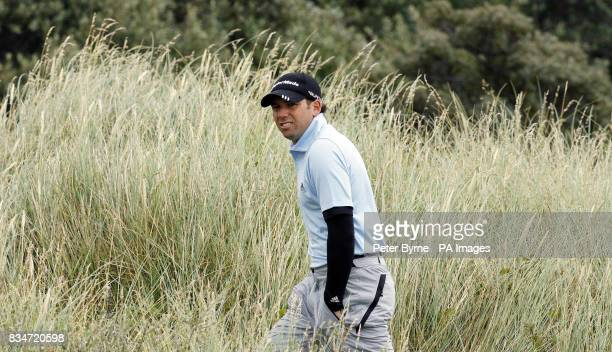 Spain's Sergio Garcia walks to the second tee during Round One of the Open Championship at the Royal Birkdale Golf Club Southport