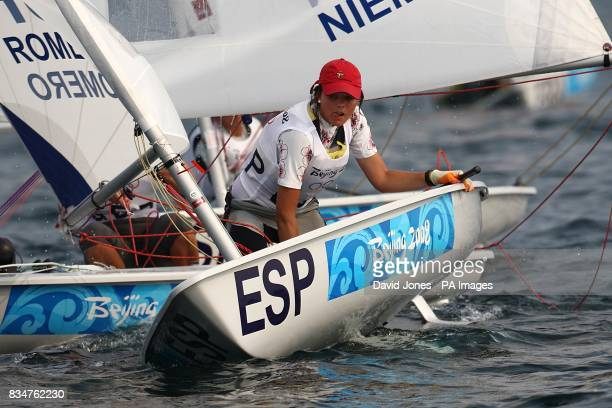 Spain's Susana Romero during the Women's Laser Radial Opening Series at the 2008 Beijing Olympic Games Sailing Centre in Qingdao China