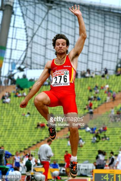 Spain's Yago Lamela in action during the Men's Long Jump qualifying
