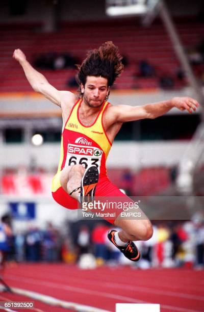 Spain's Yago Lamela in action in the men's long jump