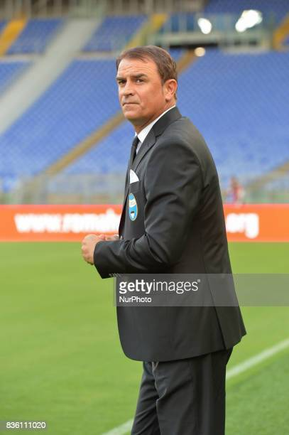 Spal head coach Leonardo Semplici during the Italian Serie A football match SS Lazio vs Spal at the Olympic Stadium in Rome august on 20 2017