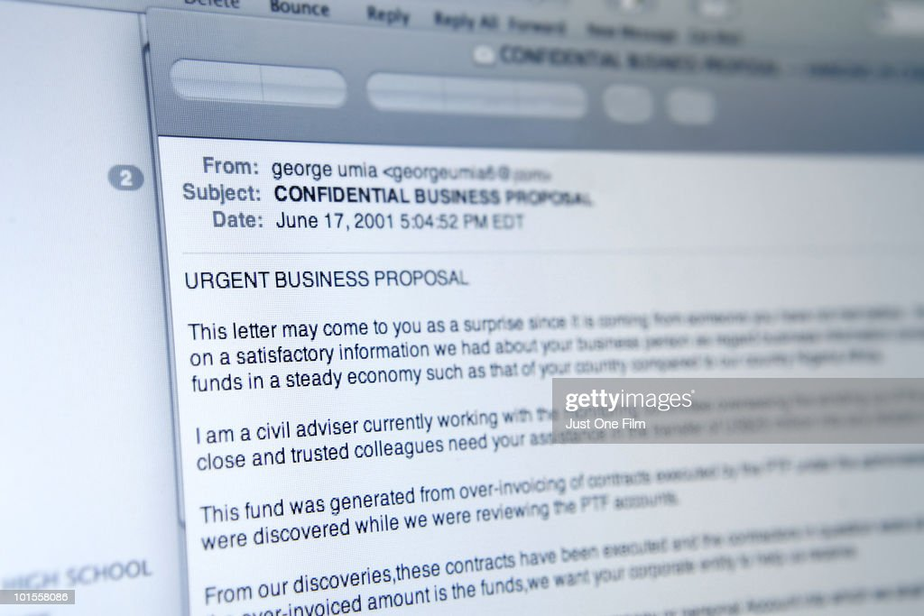 Spam - Urgent Business Proposal : Stock Photo