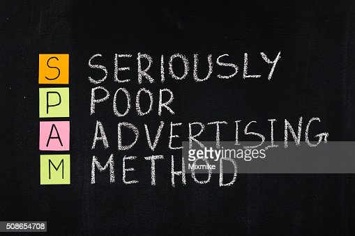 Spam word acronym : Stock Photo
