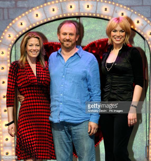 Spamalot's King Arthur Peter Davison introduces the current leading lady Hannah Waddingham who will swap roles with Marin Mazzie the leading lady...