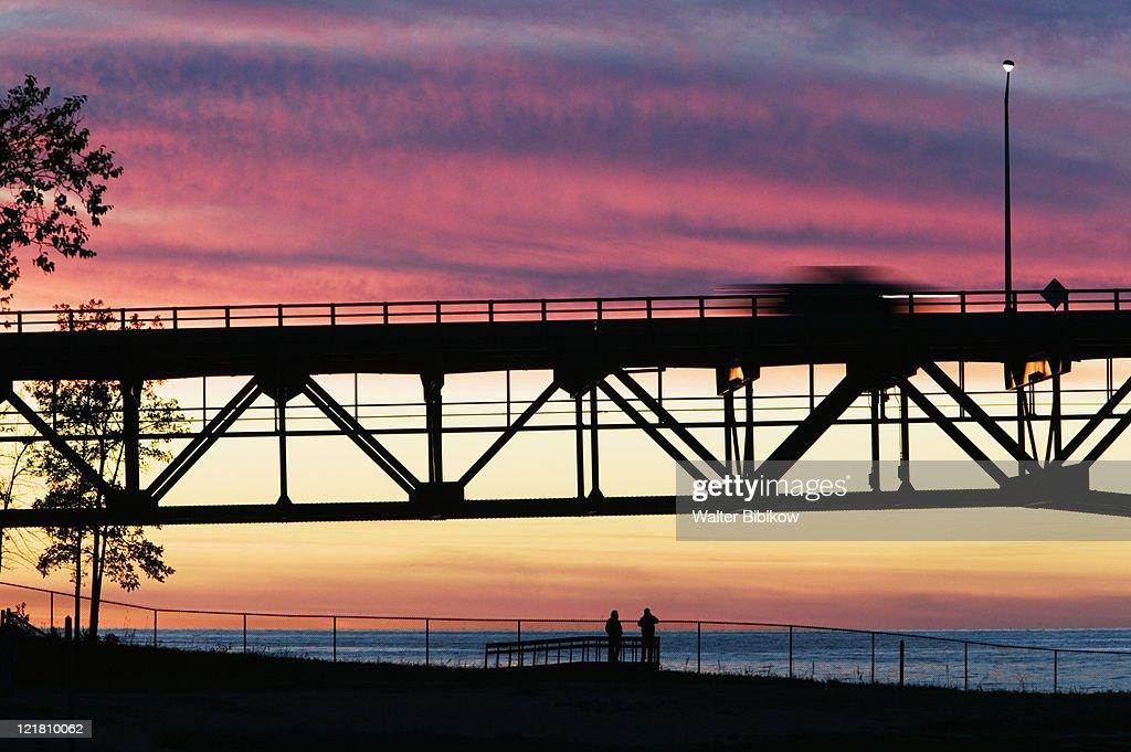 Span of the Mackinac Bridge, Straits of Mackinac between Lakes Michigan and Huron, Mackinac Bridge
