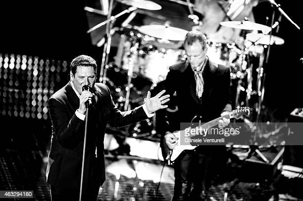 Spandau Ballet attend the thirth night of 65th Festival di Sanremo 2015 at Teatro Ariston on February 12 2015 in Sanremo Italy