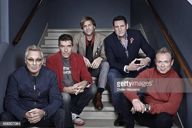Spandau Ballet pose for a picture during the presentation of their documentary Soul Boys of the Western World on October 23 2014 in Ghent Belgium