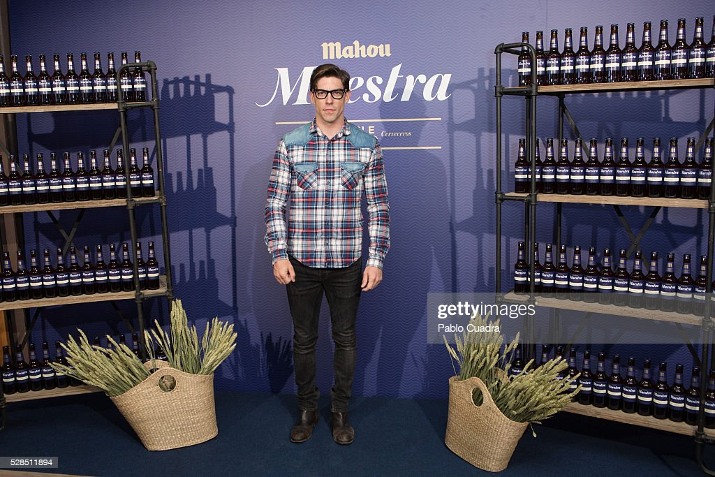 Spanish actor Adrian Lastra attends the 'Maestra' beer presentation on May 05, 2016 in Madrid, Spain.