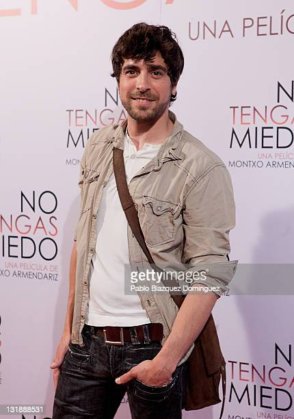 Spanish actor Agustin Galiana attends 'No Tengas Miedo' premiere at Roxy B Cinema on April 28 2011 in Madrid Spain