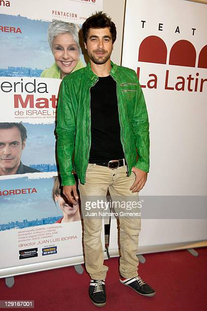 Spanish actor Agustin Galiana attends 'Querida Matilde' Premiere at La Latina Theater on October 13 2011 in Madrid Spain