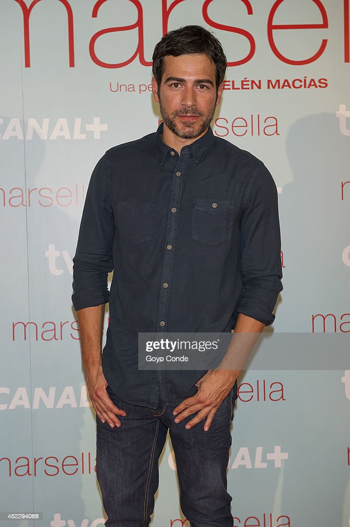 Spanish actor Alejadro Tous attends 'Marsella' premiere at the Capitol cinema on July 17, 2014 in Madrid, Spain.