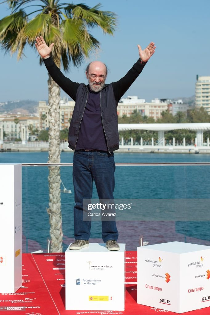 Spanish actor Alex Angulo attends the 'A Escondidas' photocall dirung the 17th Malaga Film Festival on March 22, 2014 in Malaga, Spain.