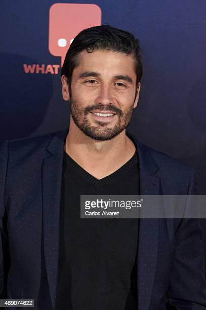 Spanish actor Alex Garcia attends 'Felices 140' premiere at the Capitol cinema on April 9 2015 in Madrid Spain