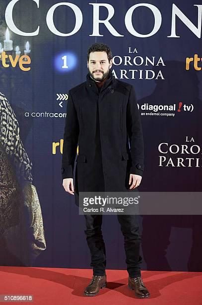 Spanish actor Alex Martinez attends 'La Corona Partida' premiere at the Capitol cinema on February 17 2016 in Madrid Spain