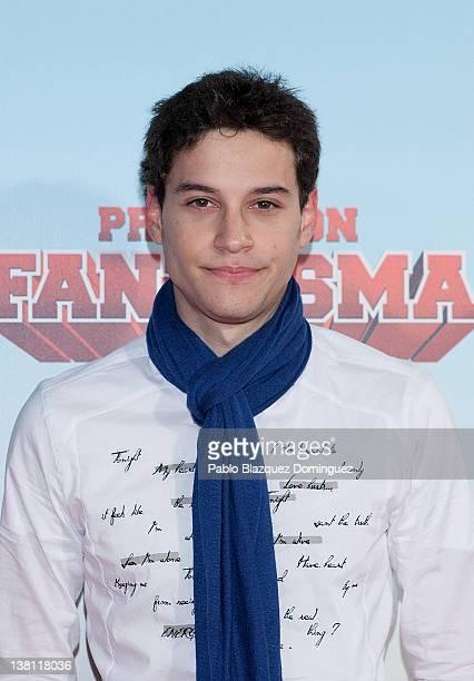 Spanish actor Alex Martinez attends 'Promocion Fantasma' premiere at Capitol Cinema on February 2 2012 in Madrid Spain