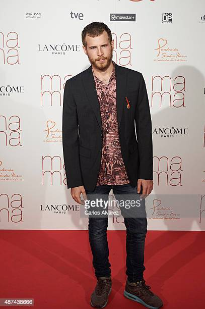 Spanish actor Alvaro Cervantes attends 'Ma Ma' premiere at the Capitol cinema on September 9 2015 in Madrid Spain
