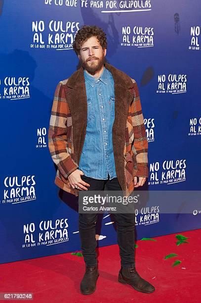 Spanish actor Alvaro Cervantes attends 'No Culpes al Karma De lo Que Te Pasa Por Gilipollas' premiere at Callao cinema on November 8 2016 in Madrid...