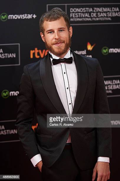 Spanish actor Alvaro Cervantes attends 'Regression' premiere during the 63rd San Sebastian International Film Festival at the Kursaal Palace on...