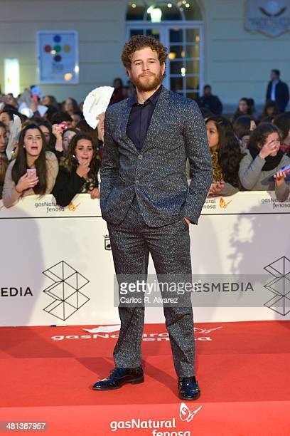 Spanish actor Alvaro Cervantes attends the 17th Malaga Film Festival 2014 closing ceremony at the Cervantes Theater on March 29 2014 in Malaga Spain