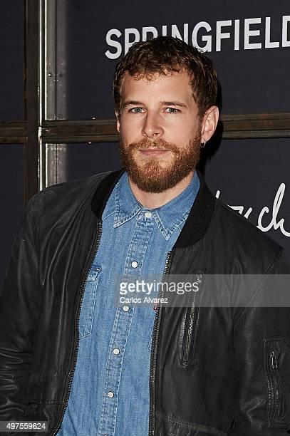Spanish actor Alvaro Cervantes attends the 'Keep in Touch' Fashion Film presentation at the Luchana Theater on November 17 2015 in Madrid Spain