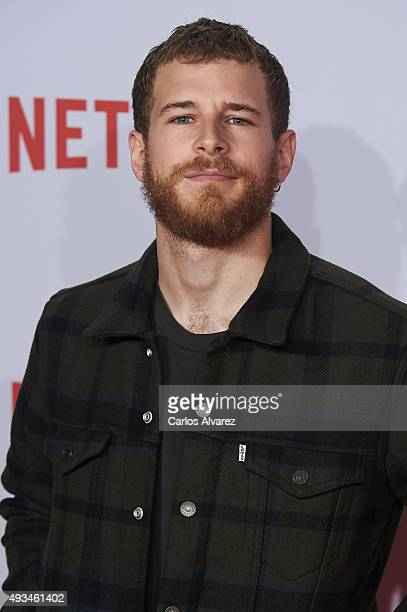 Spanish actor Alvaro Cervantes attends the red carpet of Netflix presentation at the Matadero Cultural center on October 20 2015 in Madrid Spain