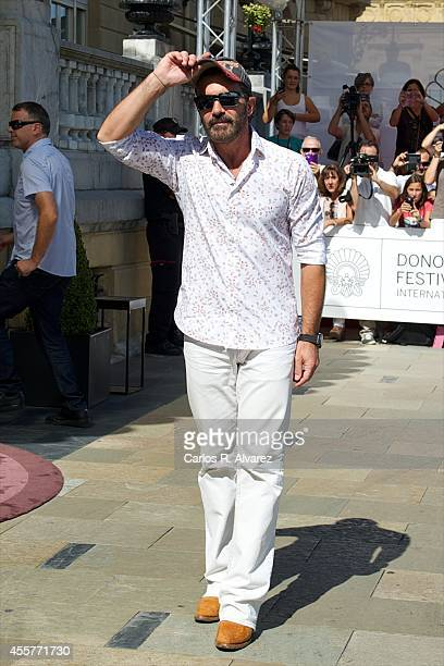 Spanish actor Antonio Banderas arrives at the Maria Cristina Hotel during the 62st San Sebastian International Film Festival on September 20 2014 in...
