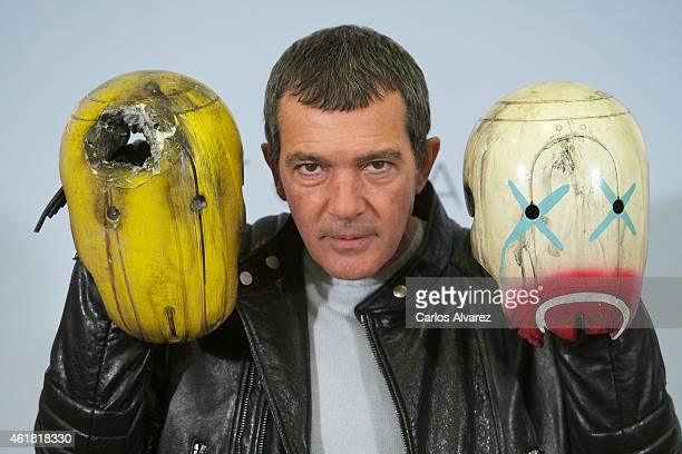 Spanish actor Antonio Banderas attends the 'Automata' photocall at the Intercontinental Hotel on January 20 2015 in Madrid Spain