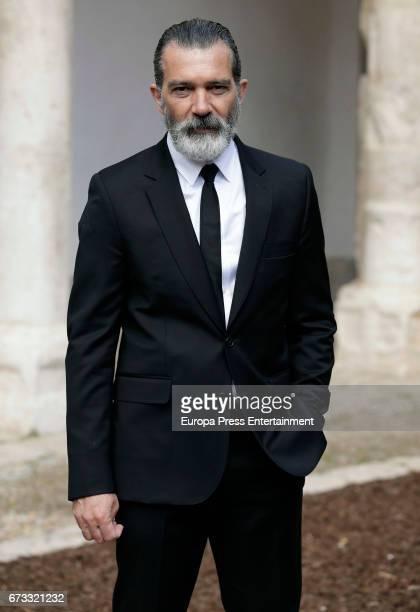 Spanish actor Antonio Banderas receives the 'Camino Real' award in Alcala de Henares on April 26 2017 in Alcala de Henares Spain