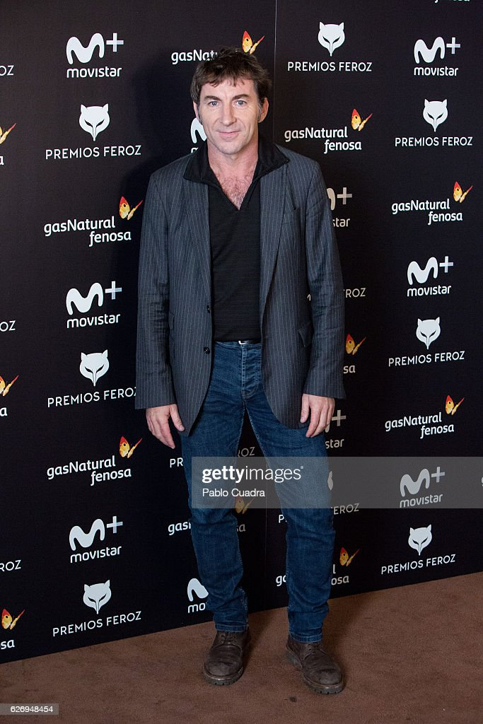 Spanish actor Antonio de la Torre attends the 'Feroz' cinema awards candidates press conference on December 1, 2016 in Madrid, Spain.