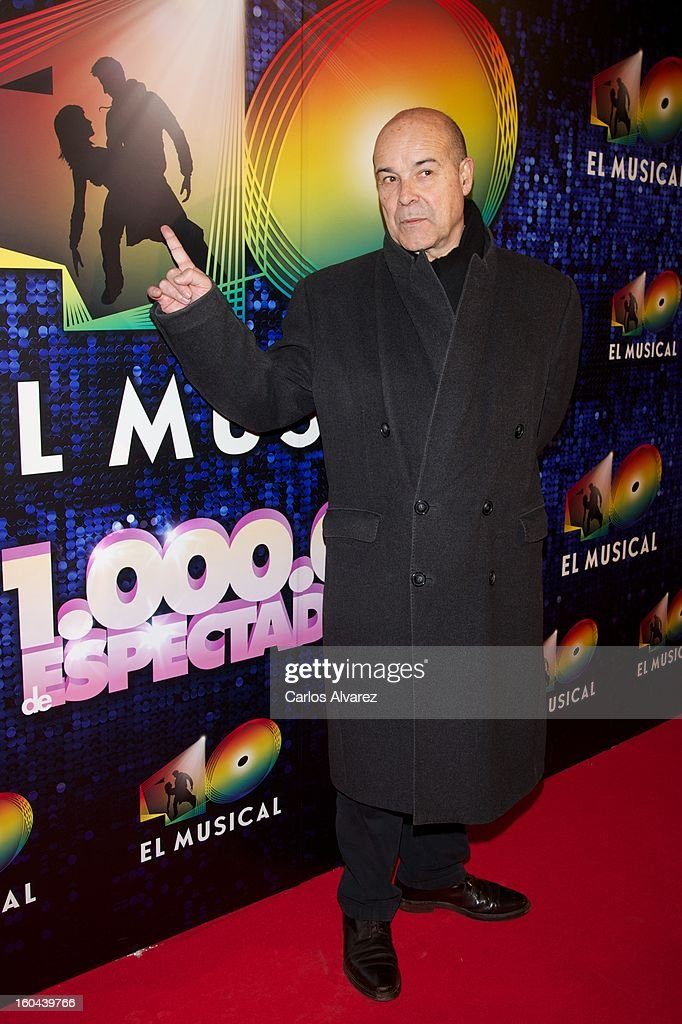 Spanish actor Antonio Resines attends '40 El Musical' premiere at the Rialto Theater on January 31, 2013 in Madrid, Spain.
