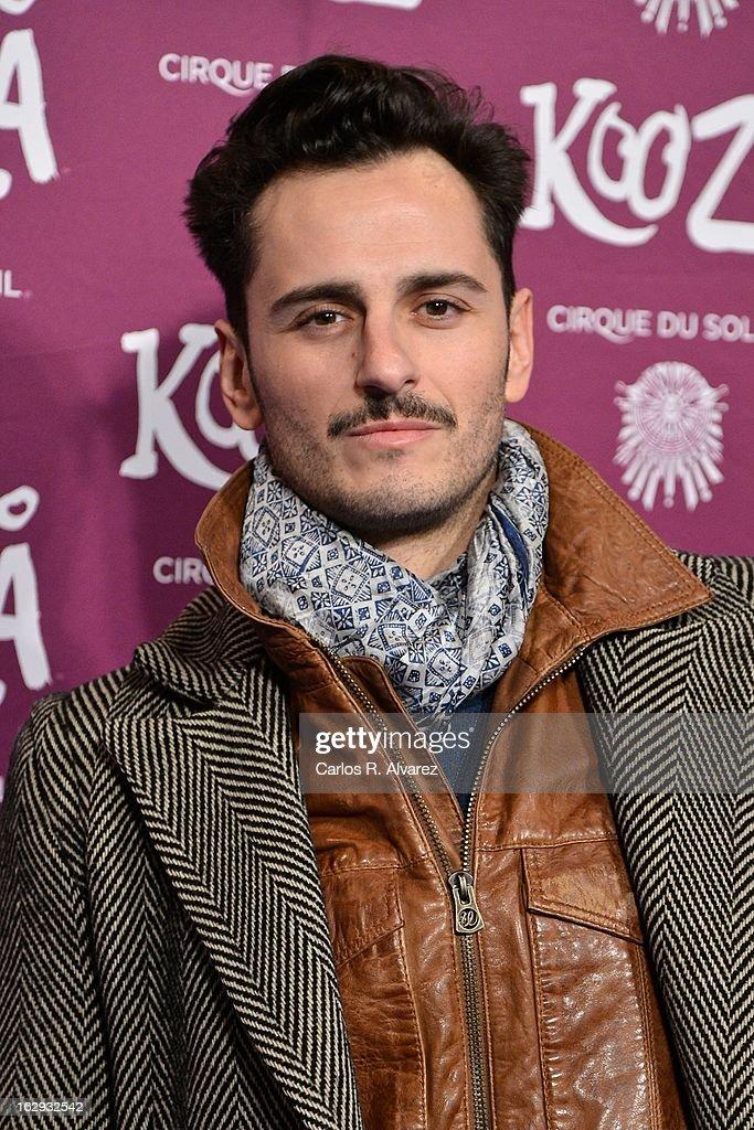 Spanish actor Asier Etxeandia attends 'Cirque Du Soleil' Kooza 2013 premiere on March 1, 2013 in Madrid, Spain.