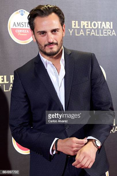 Spanish actor Asier Etxeandia attends 'El Pelotari Y La Fallera' premiere at the Callao cinema on April 5 2017 in Madrid Spain