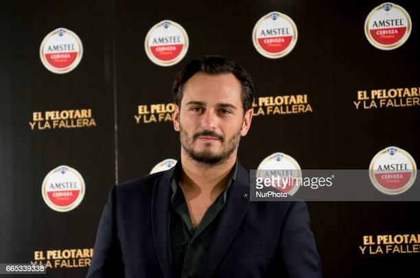 Spanish actor Asier Etxeandia attends 'El Pelotari Y La Fallera' premiere at the Callao cinema on April 5 2017 in Madrid Spain