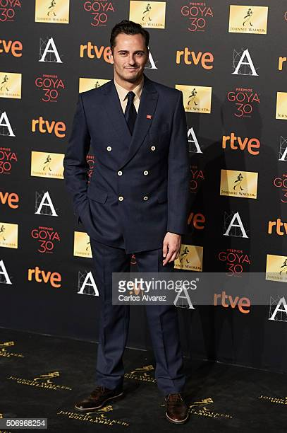 Spanish actor Asier Etxeandia attends the candidates to Goya Cinema Awards 2016 dinner party at the Cibeles Palace on January 26 2016 in Madrid Spain
