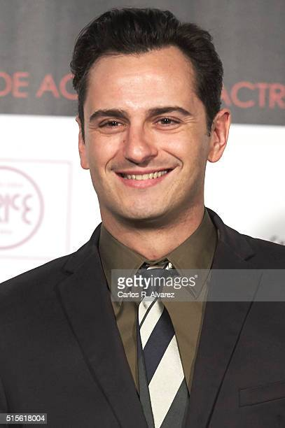 Spanish actor Asier Etxeandia attends the Union de Actores awards 25th anniversary at the Circo Price on March 14 2016 in Madrid Spain