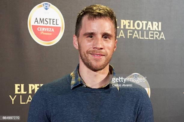 Spanish actor Bernabe Fernandez attends 'El Pelotari Y La Fallera' premiere at the Callao cinema on April 5 2017 in Madrid Spain