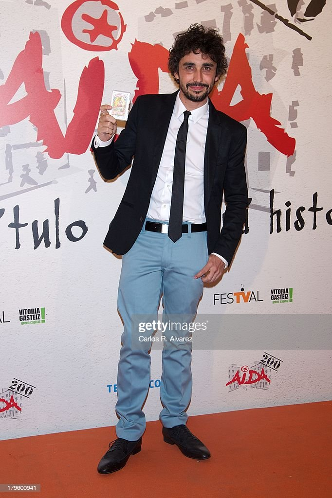 Spanish actor Canco Rodriguez attends the 'Aida' new season red carpet during the day four of 5th FesTVal Television Festival 2013 at the Villa Suso Palace on September 5, 2013 in Vitoria-Gasteiz, Spain.