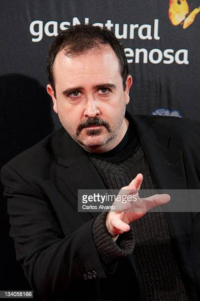 Spanish actor Carlos Areces attends 'Fuga de Cerebros 2' at Callao cinema on November 24 2011 in Madrid Spain