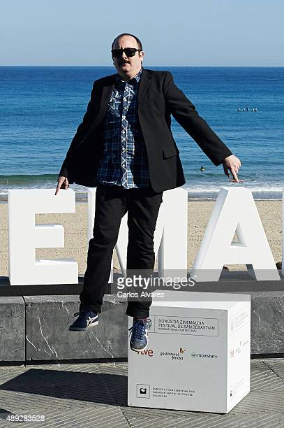 Spanish actor Carlos Areces attends the 'Mi Gran Noche' photocall at the Kursaal Palace during the 63rd San Sebastian Film Festival on September 20...