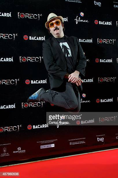 Spanish actor Carlos Areces attends the 'REC 4' premiere at the Capitol cinema on October 27 2014 in Madrid Spain