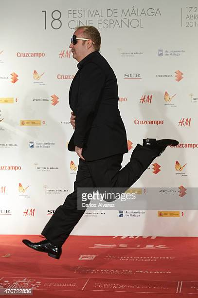 Spanish actor Carlos Areces attends the 'Sexo Facil Peliculas Tristes' premiere at the Cervantes Theater on April 22 2015 in Malaga Spain