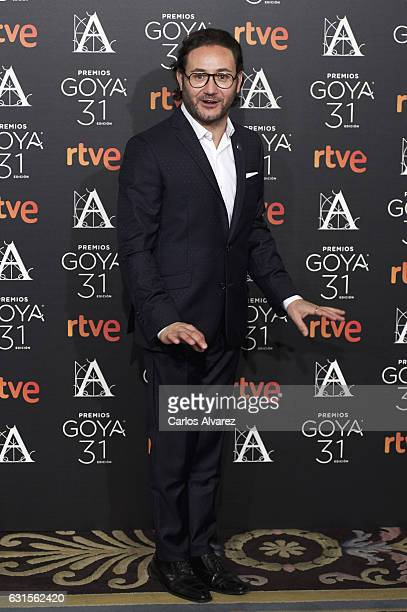 Spanish actor Carlos Santos attends the Goya cinema awards candidates 2016 cocktail at the Ritz Hotel on January 12 2017 in Madrid Spain
